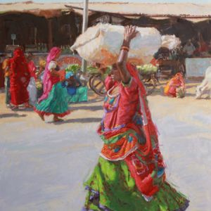 Rajasthani_Women_Working_Series_Carrying_Produce_30x20_2600_web