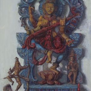 Saraswati-Goddess-of-Music-and-Art-32x16-3000